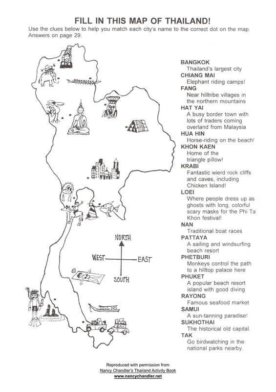 Nancy Chandler S Thailand Activity Map