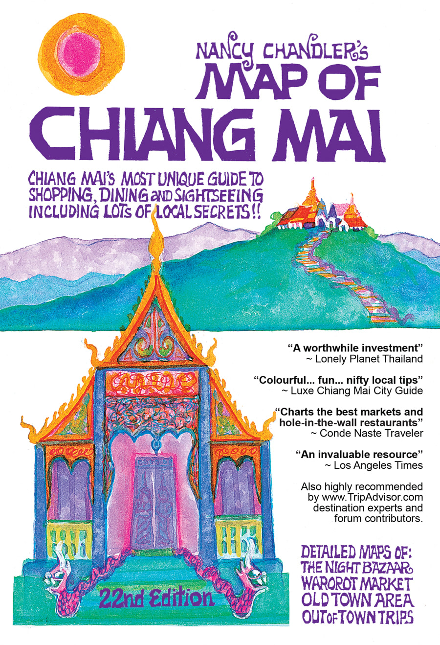 Nancy Chandler's Paper Map of Chiang Mai, 21st Edition