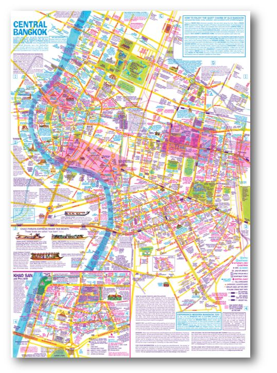 nancy chandler u0026 39 s map of bangkok poster for framing