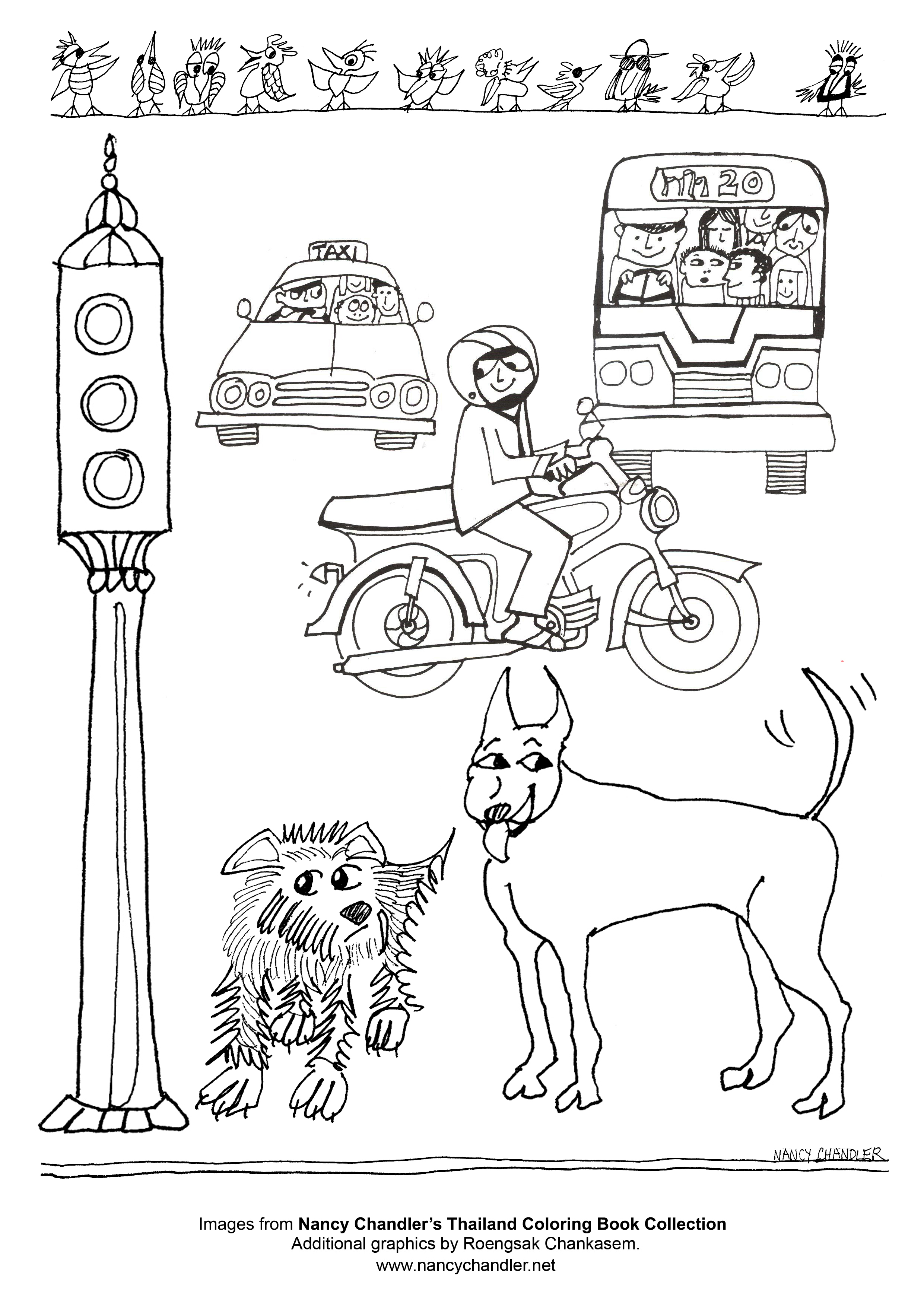 street scene coloring pages - photo#12