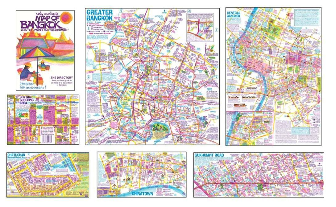 Nancy Chandler's Map of Bangkok Digital PDFof on