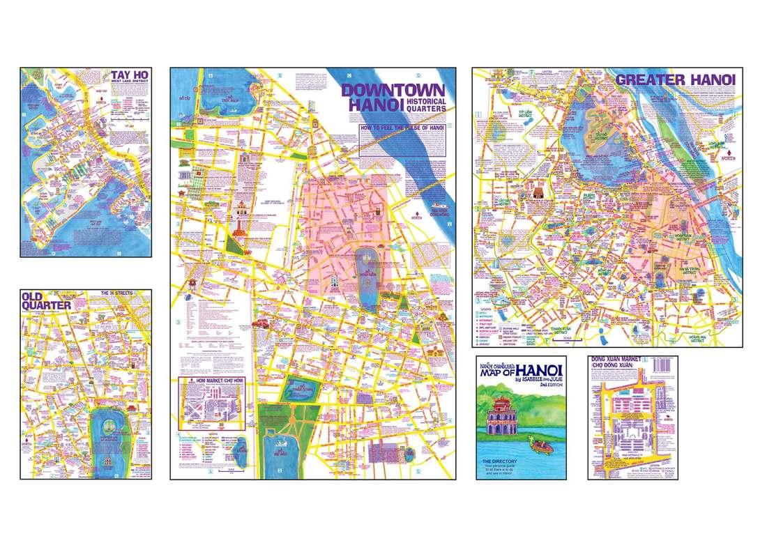 Map Ha Noi.Nancy Chandler S Map Of Hanoi